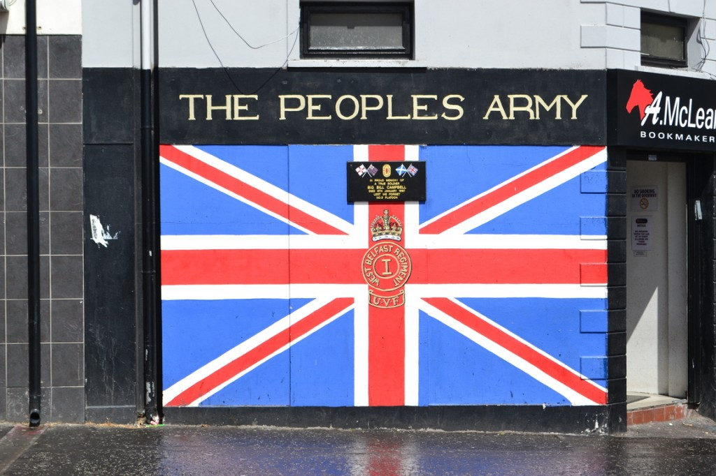 La Bandera del Reino Unido. Shankill Road