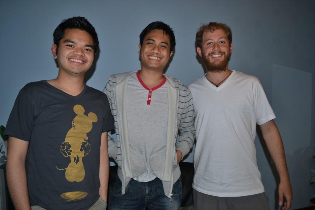 Con Dias (izquierda) y Nares (centro)