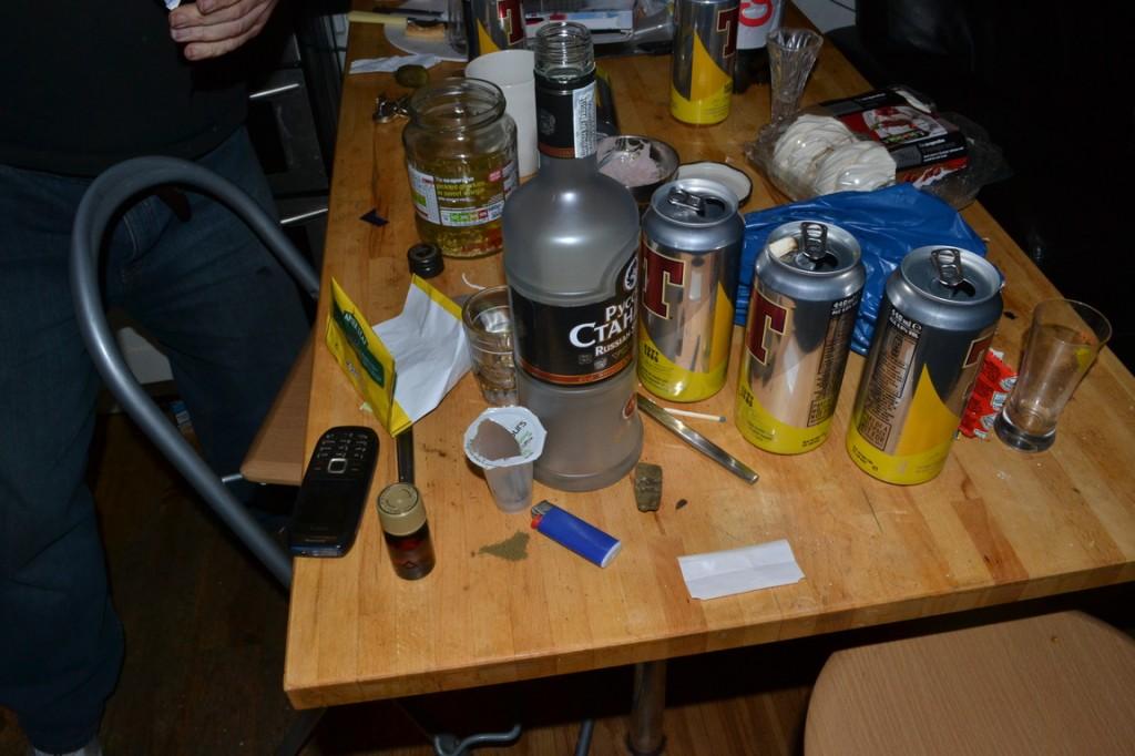 Foto de la mesa después de la fiesta