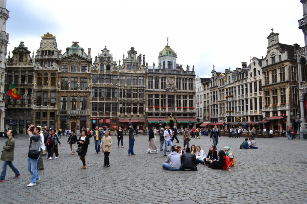 La hermosa Grand Place de Bruselas
