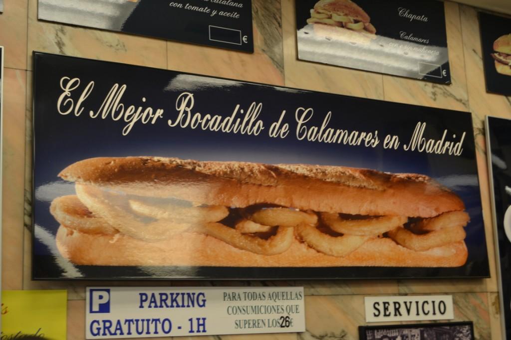 El mejor bocadillo de calamares en Madrid