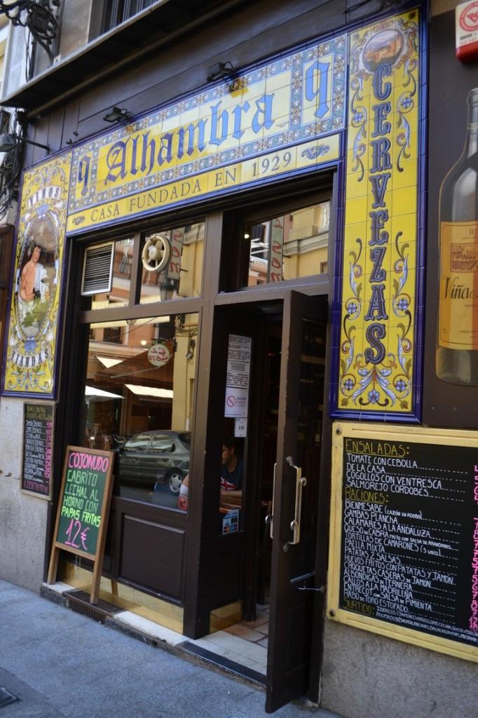 Típicos bares madrileños