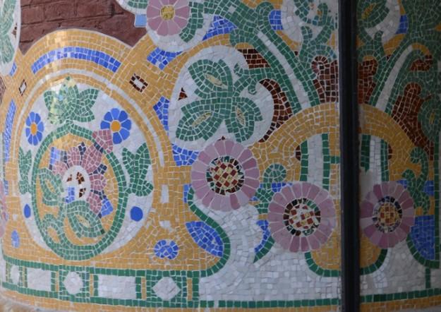 Flores en mosaicos