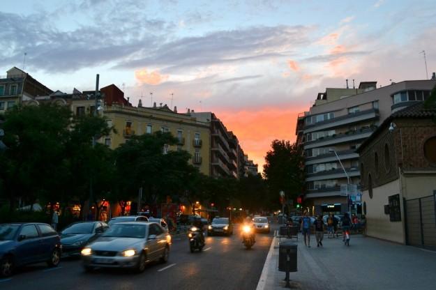 Barcelona al atardecer
