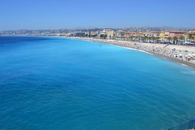 El fantástico color de mar de Niza