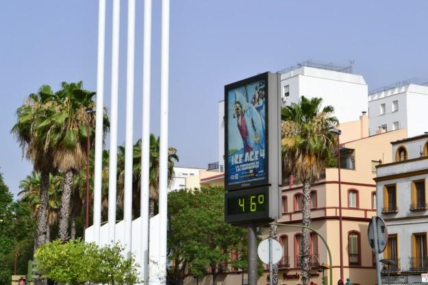 ¡¡¡46 grados en Andalucía!!! ¿La era del hielo?
