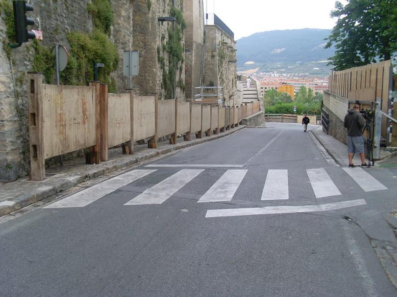 Las calles donde luego correrían los toros...