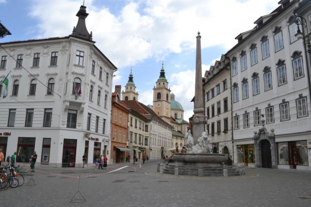 El bonito centro de Ljubljana