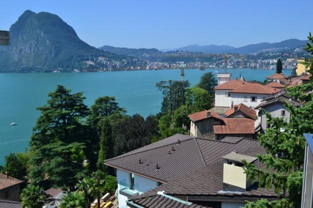 Lago Lugano y su precioso color verde, Suiza