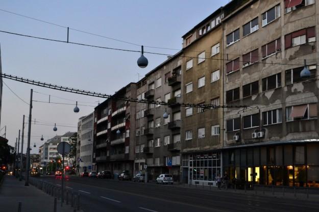 Mi primer imagen de Zagreb. Un tanto aterradora, pero ya cambiaría...