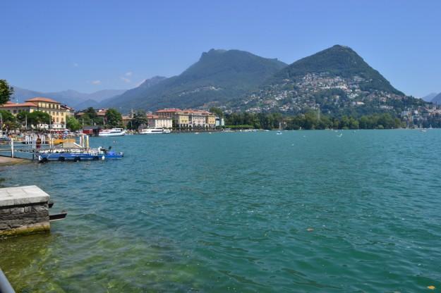 El hermoso lago y ciudad de Lugano