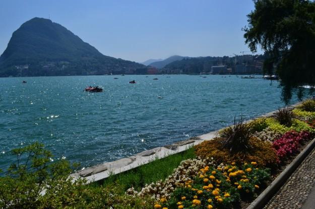 Hermoso lago y ciudad de Lugano