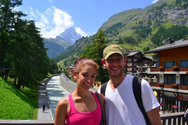 En Zermatt, con el Matterhorn de fondo
