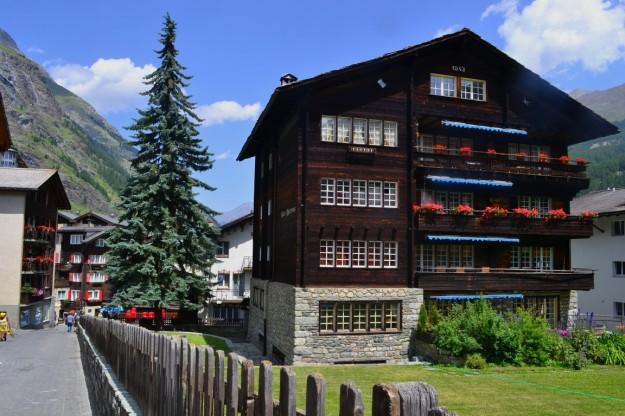 Típicas construcciones suizas