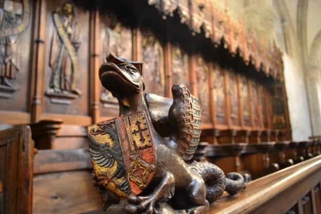 Hermosas decoraciones en la Catedral de Ginebra