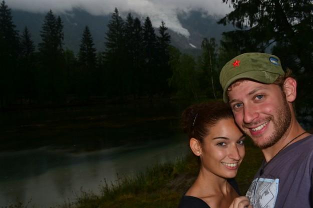 En nuestro lago paradisíaco en Chamonix-Mont-Blanc