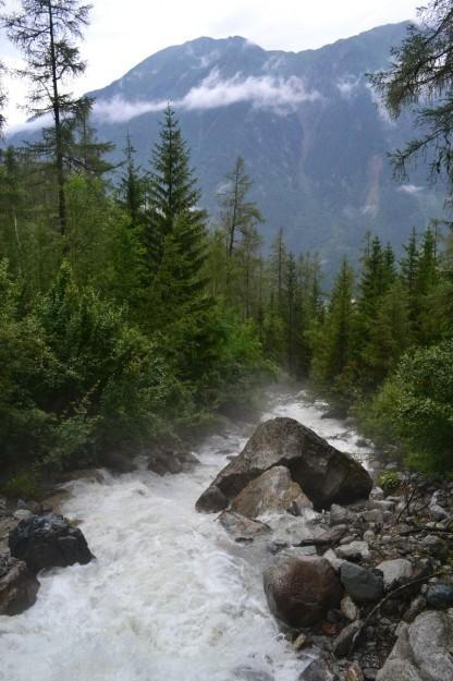 Caudalosos arroyos del Mont Blanc