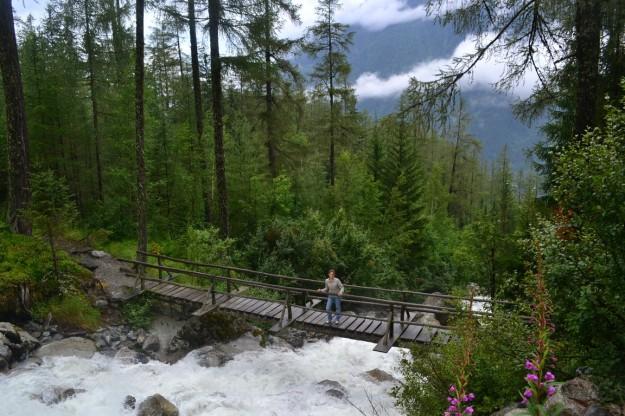 Puentes colgantes, arroyos, montañas, pinos... y Jani!