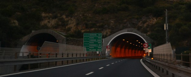 Ingreso a la Autostrada italiana