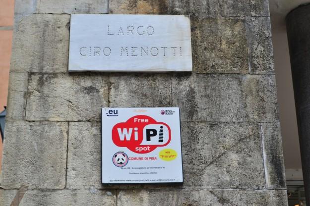 En Pisa no hay Wi-Fi. ¡Hay Wi-Pi!