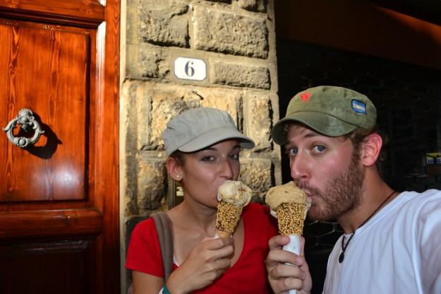 ¡El famoso helado italiano!