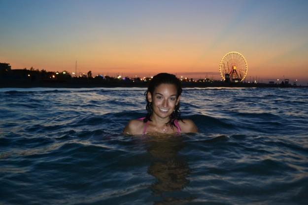Jani en la playa de Rimini