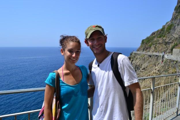 Con Jani en Cinque Terre
