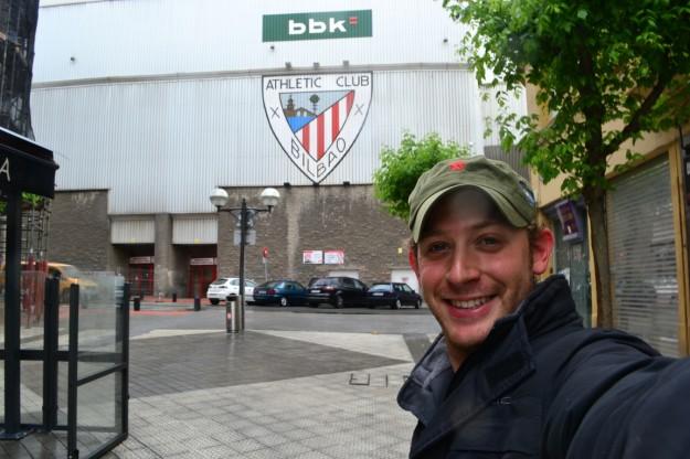 En Bilbao, cuando visité el mítico estadio San Mamés del Athletic Club
