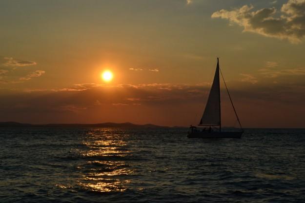 El inolvidable atardecer de Zadar