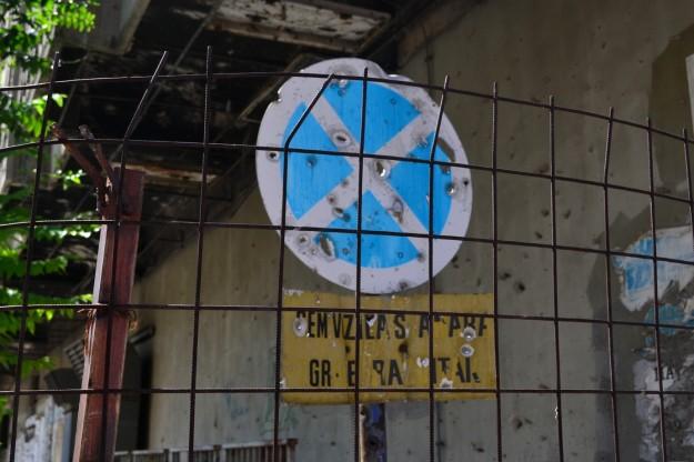 Secuelas de la guerra en las calles de Mostar