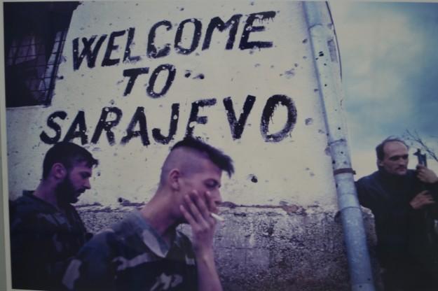 Foto a una foto de la exposición del Museo de Historia de Sarajevo