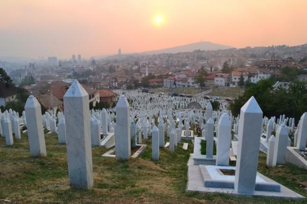 Cementerio de Sarajevo, creado por la necesidad durante el asedio