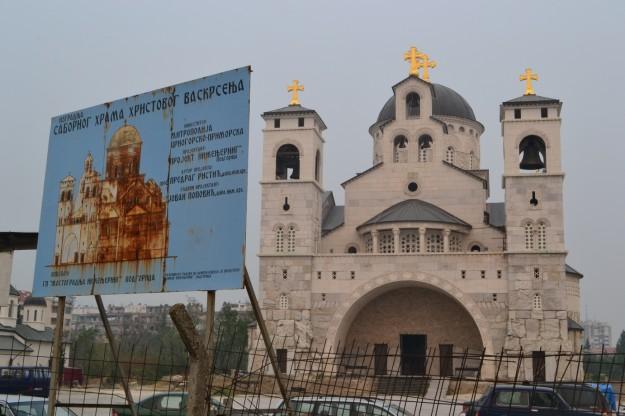 Catedral Ortodoxa de Podgorica. ¿Lo único decente de la ciudad?