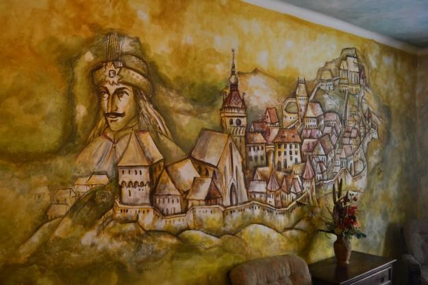 Mural alusivo a Vlad Tepes en su casa natal - Sighisoara