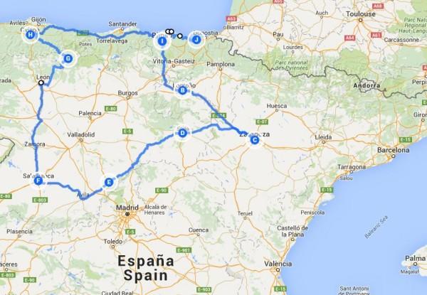 Norte de España 2013
