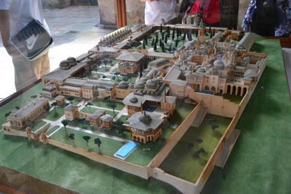 Maqueta del impresionante Palacio Topkapi