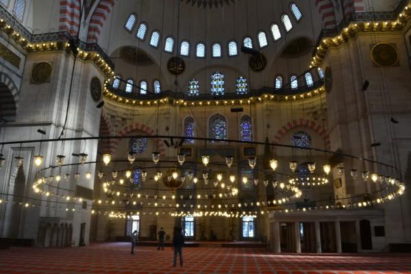 La Mezquita de Solimán por dentro