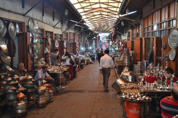 Imagen de un típico bazaar turco en Gaziantep