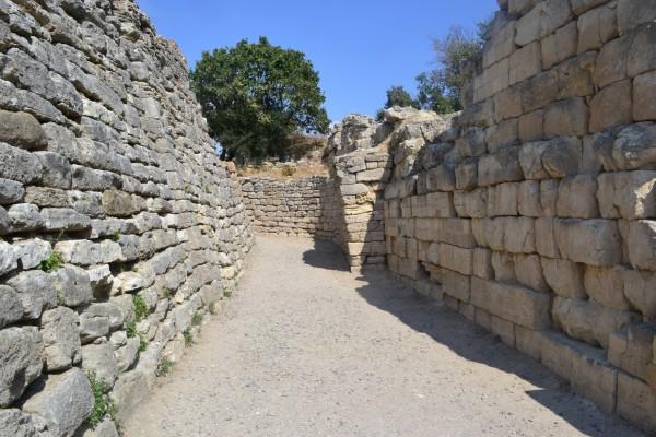 Restos de las murallas de la antigua Troya