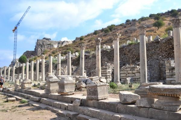 Restos del Ágora Baja, la plaza pública de la antigua Efeso