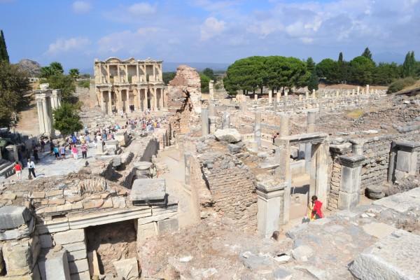 Vista general de las ruinas de Efeso