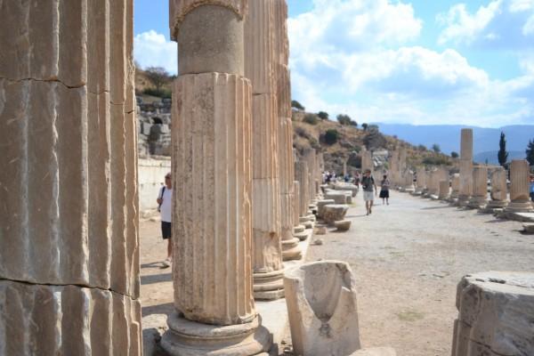 Restos de la Ágora Alta en Efeso
