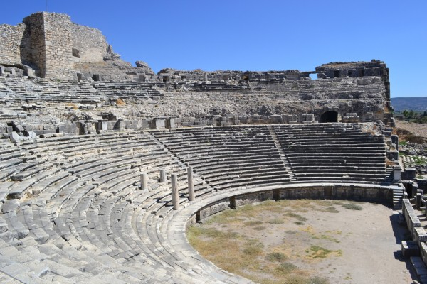 El inmenso teatro de Mileto, el que más me gustó de todo Turquía