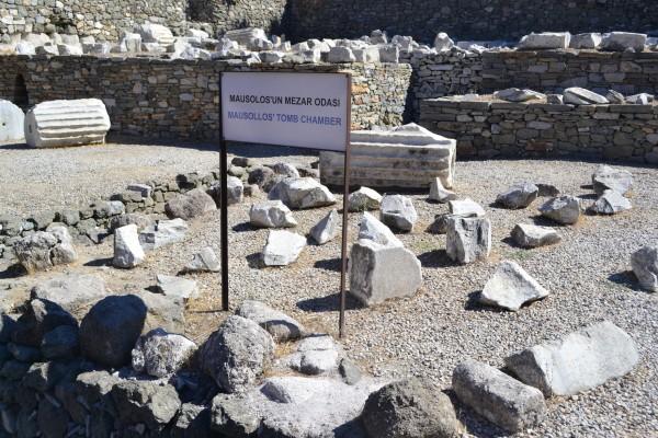 Zona de la tumba de Mausolo