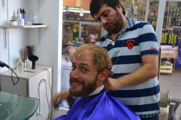Ya aventurado a la silla del barbero...