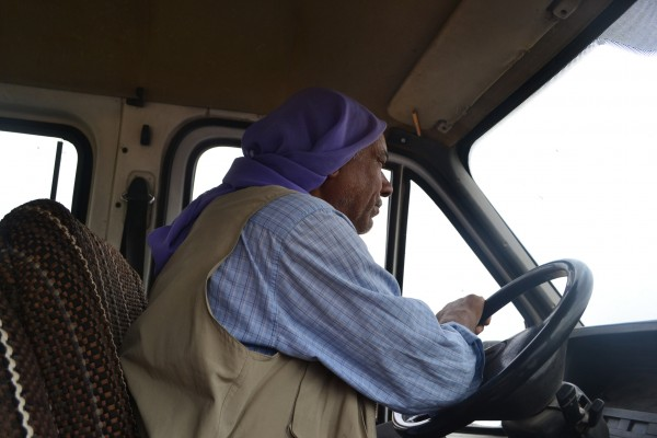 Un campesino árabe me acercó unos kilómetros en subida que hubieran sido terribles