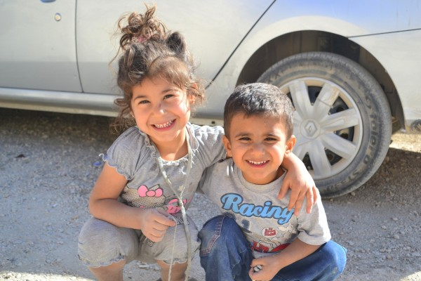 Niños de Mardin, posando para unas fotos