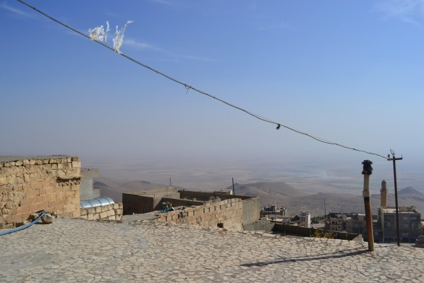 La planicie mesopotámica, inmensa, vista desde la ciudadela de Mardin