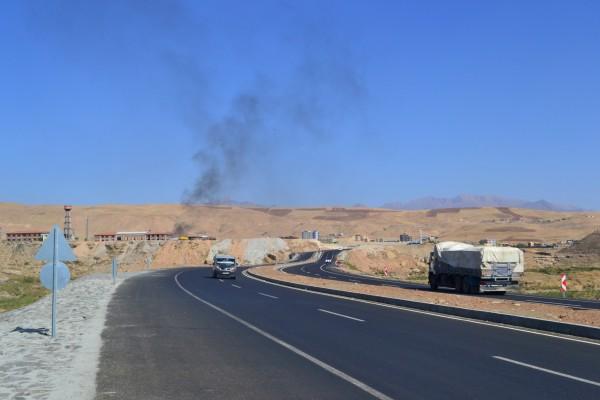La ruta hacia Irak, cuya frontera se encuentra a sólo 50 kilómetros