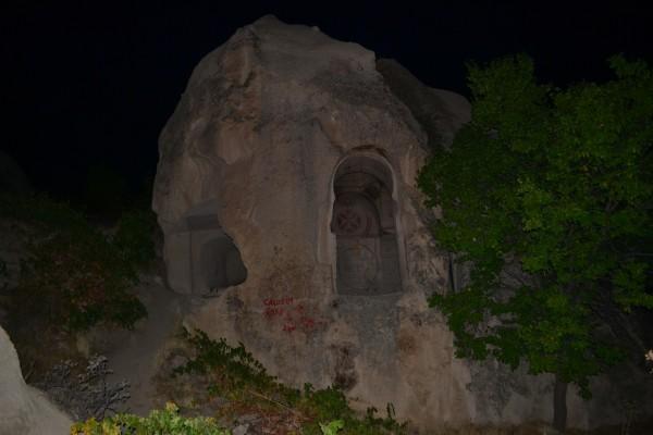 Iglesia abandonada del s.VIII, mi refugio en la última noche en Cappadocia